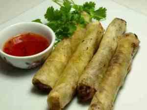 Thai vårruller oppskrift.