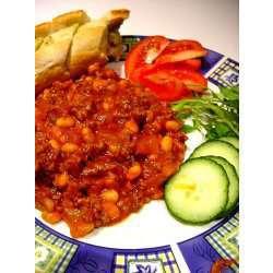 Bønnegryte med kjøtt (Chili con Carne) oppskrift.