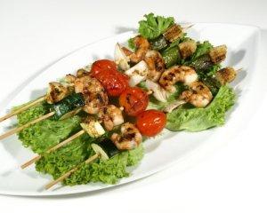 Prøv også Reke- og grønnsakkebab.