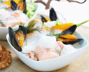 Prøv også Fiskesuppe med skalldyr.