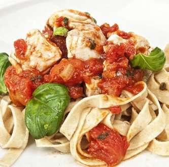 Prøv også Pasta med sei, tomat og basilikum.