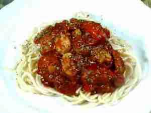 Prøv også Spaghetti med tomat-chilisaus.