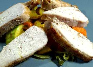 Prøv også Helstekt kalkunbryst med grønnsakkompott.