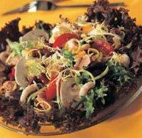 Salat med marinerte reker oppskrift.