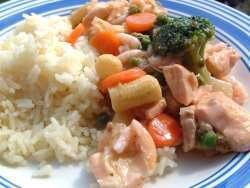 Prøv også Grønnsakwok med fisk.
