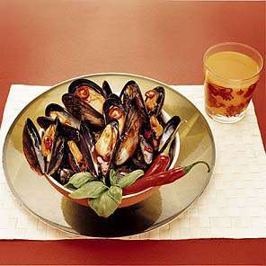 Moules Red Hot Chilli oppskrift.
