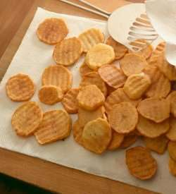 Prøv også Frityrstekte potetskiver.