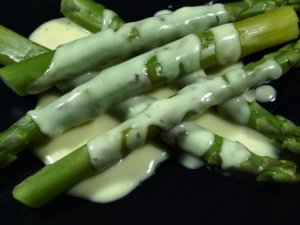 Pr�v ogs� Gr�nn asparges med saus.