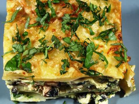 Bilde av Lasagne med sopp.
