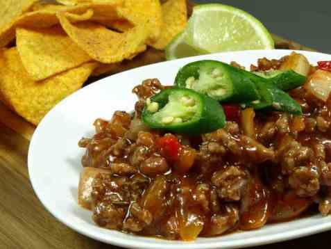 Chili con carne 1 oppskrift.