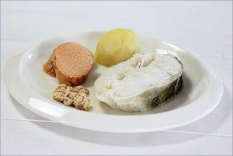 Dagens oppskrift er Kokt torsk, lever og rogn.