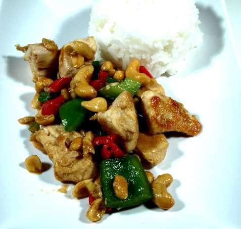 Szechuan kylling oppskrift.
