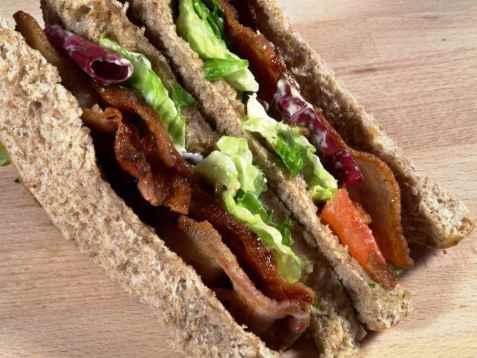 BLT-Sandwich oppskrift.