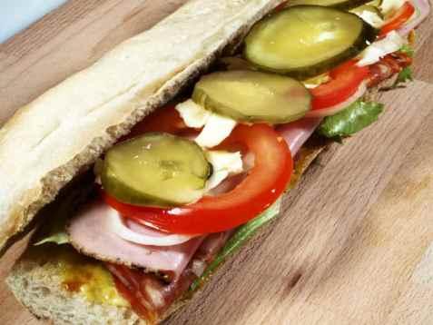 Hero-sandwich oppskrift.