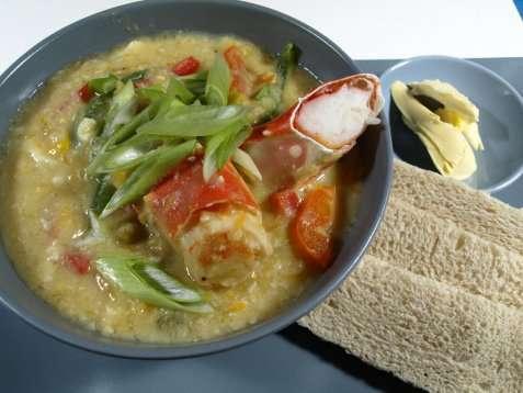 Krabbesuppe 2 oppskrift.