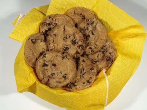 Chocolate chip cookies oppskrift.
