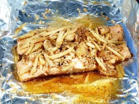 Dampet fisk med ingefær oppskrift.