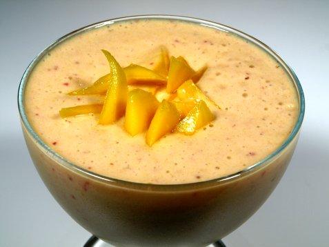 Mango milkshake oppskrift.