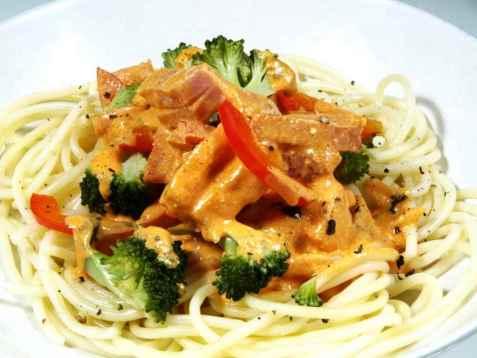 Unnis utsøkte spaghetti med hvitløk oppskrift.