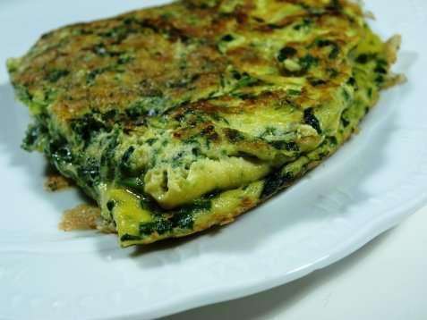 Omelette con gli spinaci (Spinat omeletter) oppskrift.
