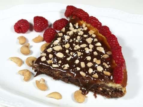 Brownies med ostekrem oppskrift.