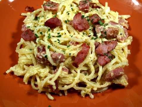 Spaghetti alla Carbonara 2 oppskrift.