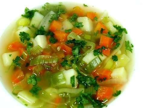 Grønnsaksuppe med poteter oppskrift.