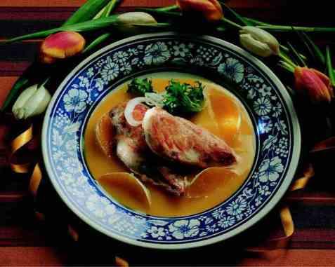 Kyllingfilet med appelsinsaus oppskrift.