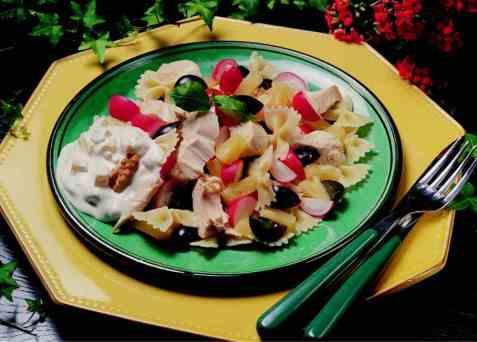 Kyllingsalat m/pasta 2 oppskrift.