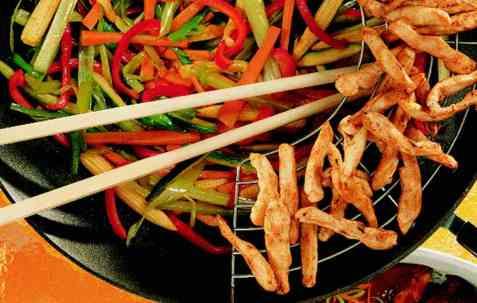 Kylling i wok 3 oppskrift.
