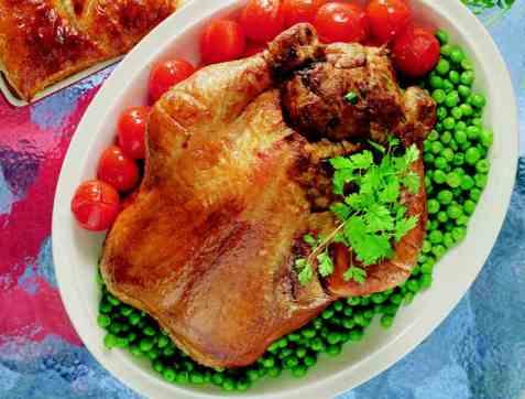 Fylt kylling fra Østerrike oppskrift.