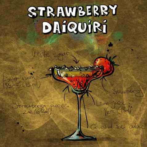 Strawberry Daiquiri oppskrift.