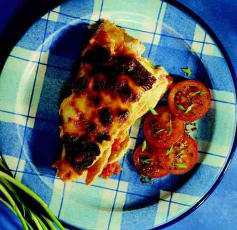 Lasagne med kylling oppskrift.