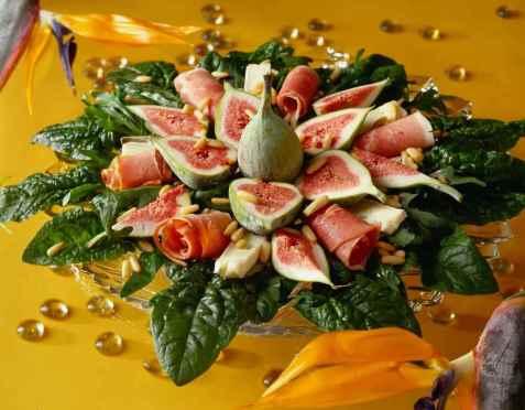 Salat med fiken oppskrift.