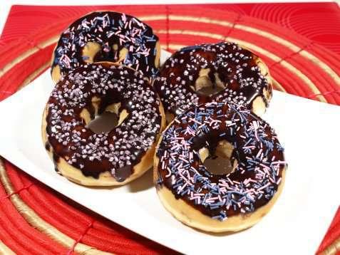 Bilde av P�ske donuts.