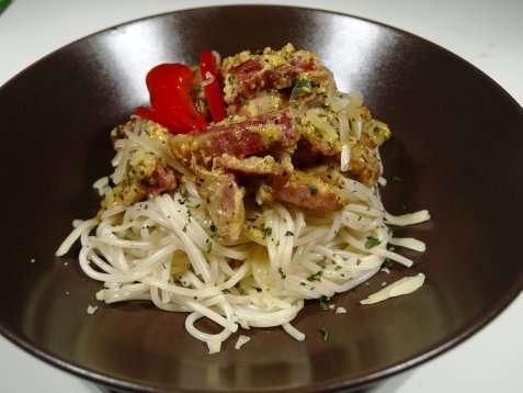 Spaghetti  carbonara oppskrift.