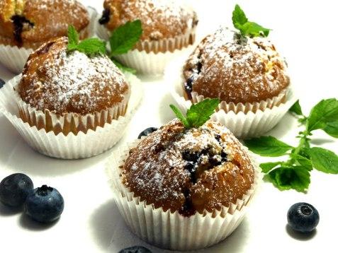 Blåbærmuffins oppskrift.