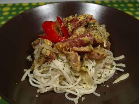 Spaghetti Carbonara-mix oppskrift.