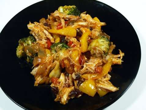 Kylling med basilikum og broccoli oppskrift.