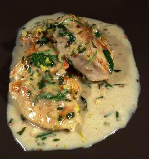 Kylling med sitrongress oppskrift.