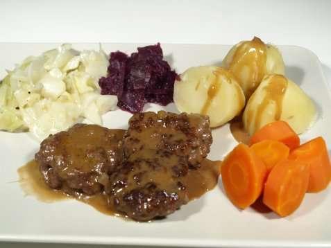 Bilde av Mors kj�ttkaker med brun saus.