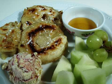 Bilde av Fritert banan og ananas.