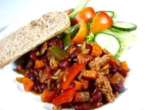 Chili Con Carne rask oppskrift.