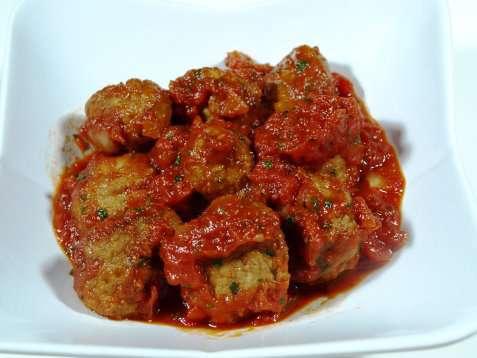 Bilde av Kj�ttboller i tomatsaus.