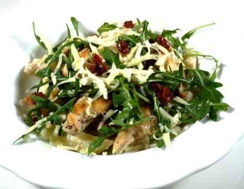 Dagens oppskrift er Kyllingfilet med fersk pasta og solt�rkede tomater.