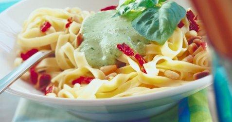 Bilde av Pasta med pesto.