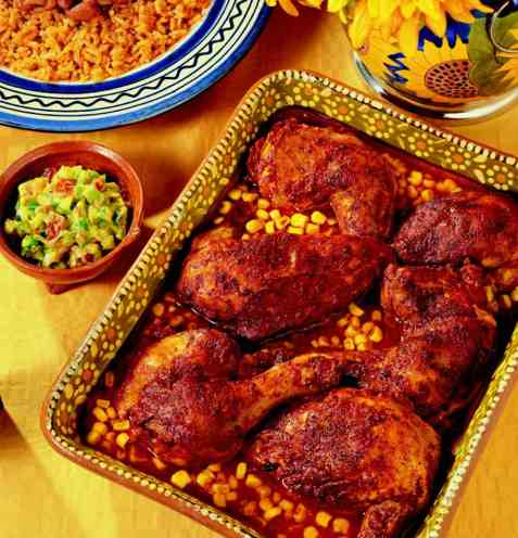 Pollo achiote (mexicansk krydderkylling) oppskrift.