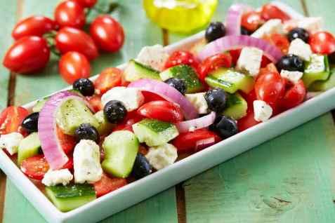 Gresk salat oppskrift.