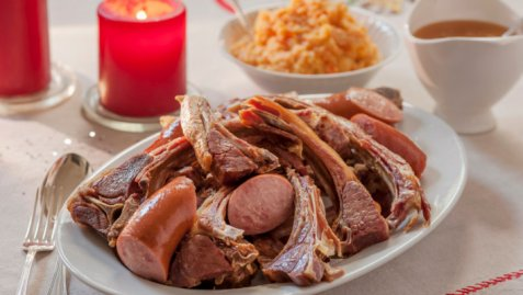 Dried mutton ribs (pinnekj�tt).