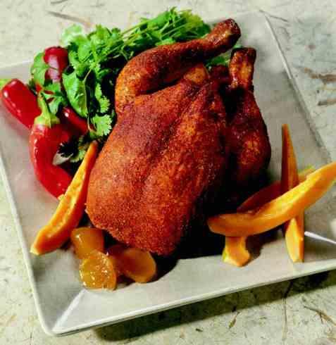 Ildfull kylling oppskrift.